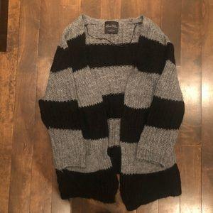 ZARA striped wool blend cardigan size M